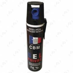 Bombe lacrymogène à gel CBM CS 25 ml