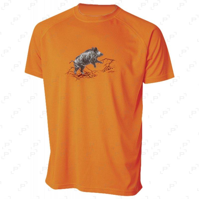 T-shirt BARTAVEL DIEGO sanglier orange