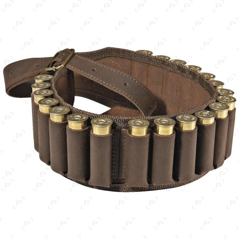 Cartouchière en cuir 20 tubes Cal.12