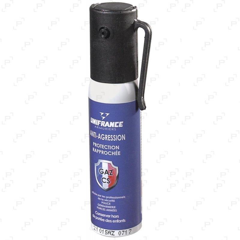 Bombe lacrymogène à gaz CS anti-agression