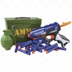 Pack pistolet à fléchettes et grenade...